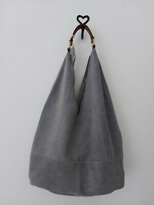BNWT House Of Fraser Maison De Nimes Hobo Suede Real Leather Bag