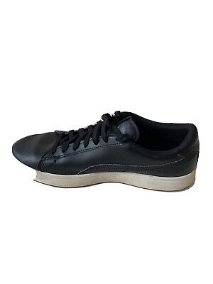 Puma Black Leather Lace Up Sports Athletic Running Sneaker Shoes Men's Size 7.5