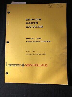 New Holland Service Parts Catalog Model L-425 Skid Steer Loader 594