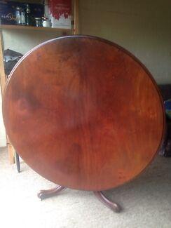 Victorian mahogany til top table