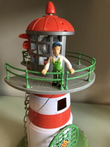 Feuerwehrmann Sam Leuchtturm mit Mike & div. Zubehör & Leuchtfunktion
