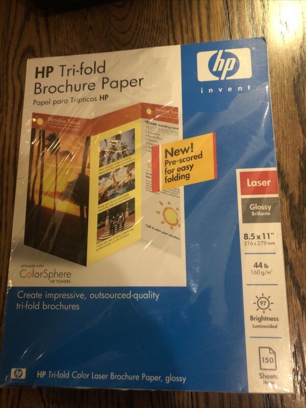 Hp Tri-fold Brochure Paper 160 g Laser Glossy Brilliant 150 Sheets