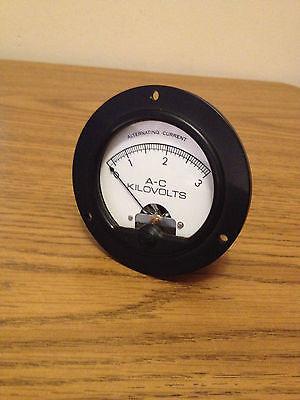 Simpson Model 55 0-3 Kilovolt Ac Panel Voltmeter