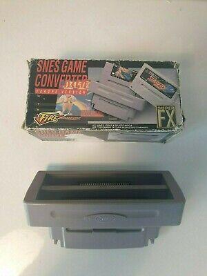 RARE Super Nintendo SNES NES FIRE GAME CONVERTER EUR VERSI Boxed Boite OVP PAL