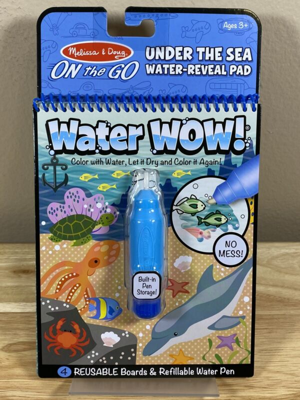 Melissa & Doug Wow! Under The Sea Water Reveal Pad Brand New