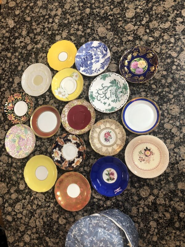 RICHARD GINORI CHINA assorted Colors Dessert Bread Plates SET 17 RARE!!