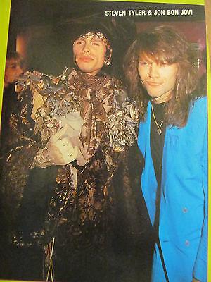 Aerosmith, Steven Tyler, Jon Bon Jovi, Full Page Vintage Pinup