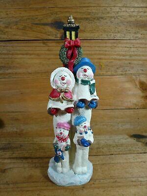 "Very Nice Christmas Snow People Carolers & Lamp Post Figurine 12"" Tall"