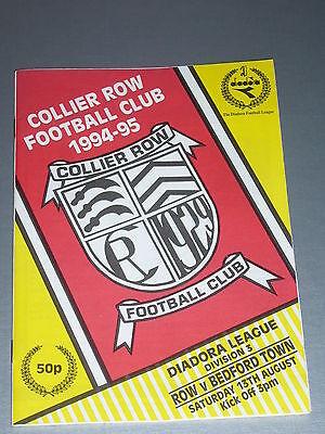 COLLIER ROW v BEDFORD TOWN - Diadora Lge 1994/95