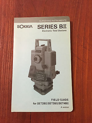 Sokkia Total Station Set2bii Set3bii Set4bii Field Guide Surveying