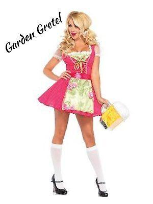 NEW Halloween Costume Women's Adult Size Large Sexy Beer Garden Gretel - Gardener Costume Halloween
