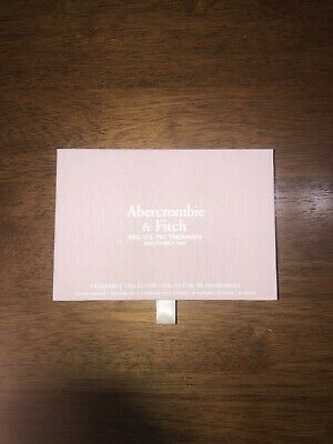 ABERCROMBIE & FITCH FRAGRANCE COLLECTION WOMEN 6 PIECE VIAL SET 0.09 Oz EACH NEW