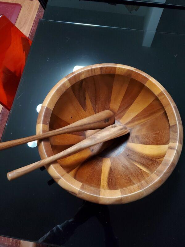 Dansk wooden bowl With Laddles