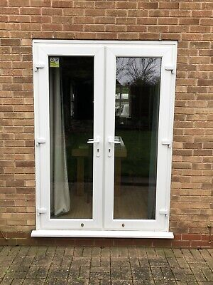 UPVC Patio French Doors Used. Frame (mm) 1500w X 2070h.