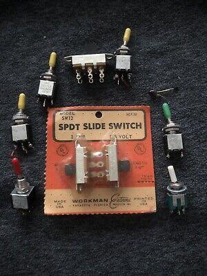 Lot Vintage Electronics Toggle Slide Switches Spdt Nos Japan Sw12