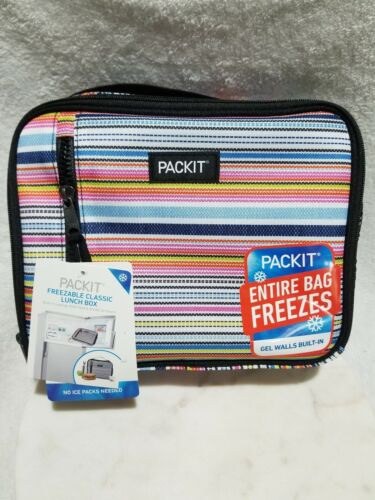 NEW PackIt Freezable Classic Lunch Box Bag - Blanket Stripes