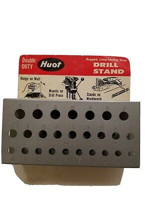Huot No. 826 Drill Bit Stand 26 Bit Capacity For Letter Sizes A To Z Organizer