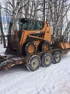 Bobcat trailer and attachments
