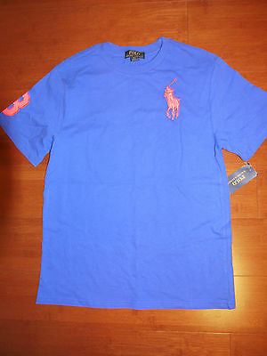 NWT Ralph Lauren Boys Blue Big Pony T-Shirt Sz. M (10--12)