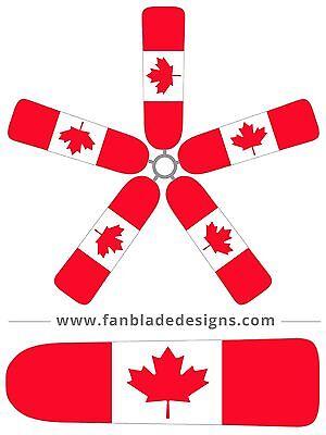 Canadian Flag Ceiling Fan Blade Covers Iris Ceiling Fan