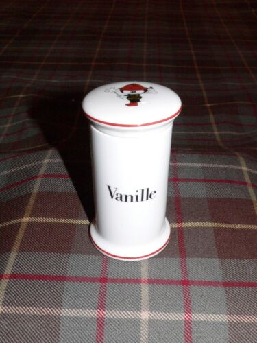 "Bing & Grondahl ""VANILLE"" Apothecary Porcelain Spice Jar, Made in Denmark, 1970s"