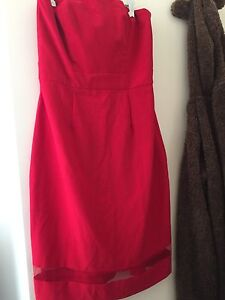 Red strapless semi formal dress Mango Hill Pine Rivers Area Preview
