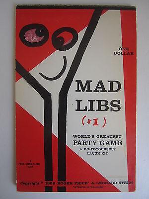 Mad Libs #1 Funny Mad Magazine Mazagine Game Humor Vintage 1958 ](Mad Libs Game)