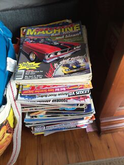 Pile of old street machine magazines  Glenbrook Blue Mountains Preview