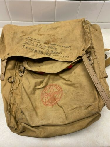 Vintage Official Boy Scout Deluxe Yucca Pack #1329