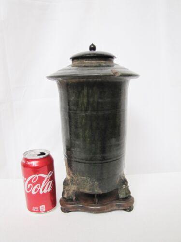Antique Han Dynasty Chinese Pottery Glazed Clay Vase/Jar