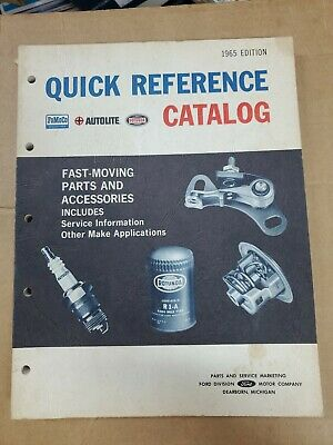 1965 Ford Quick Reference catalog of parts and accessories service manual