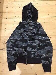 61cb9ca162c5 Bape jacket tiger camo black size M STEAL