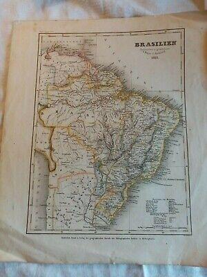 Brasilien,1853,radefeld,west indien,vulkanreihe von guatemala, 3 maps meyers