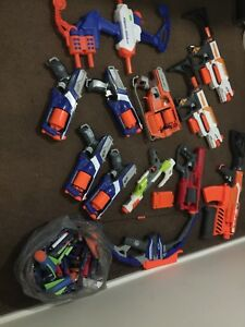 12x nerf guns 1000x ammunition | Toys - Outdoor | Gumtree Australia