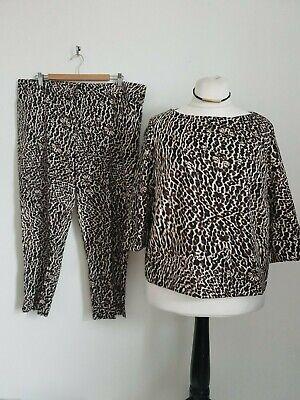Helene Berman size 20 leopard print top & trousers set suit Plus size Worn once