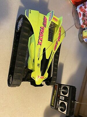 Vintage Tyco Mini Traxx Rc With Remote - Working -  VHTF Neon Green!!! Free Ship