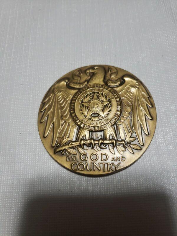 Vtg American Legion School Award Pin Token Coin 10k Gold Filled Maco