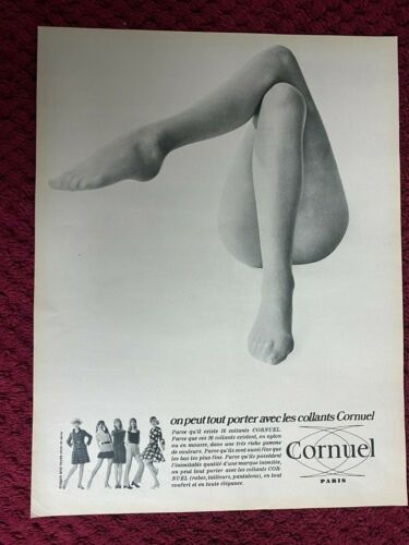 1969 CORNUEL  : SHEERS Sexy legs     magazine Print AD