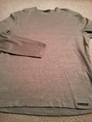PAUL SMITH Men's Crewneck Linen/Cotton Medium (M) GREEN L/S Shirt EXC!