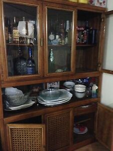 China cabinet with dining set
