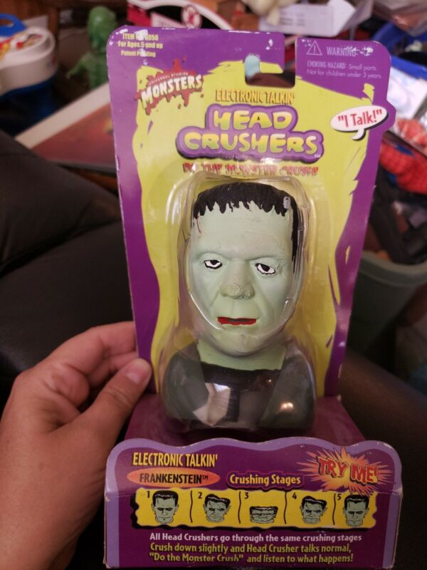 Universal Studios Monsters Electronic Talking Head Crusher Frankenstein 1999