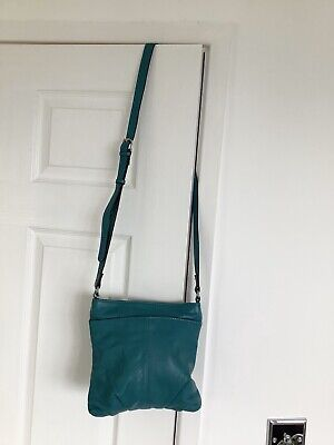 Clarks~Jade Green~Leather~Summer~Crossbody~Bag~Perfect Condition