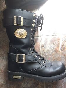Women's Xelement motorcycle boots.