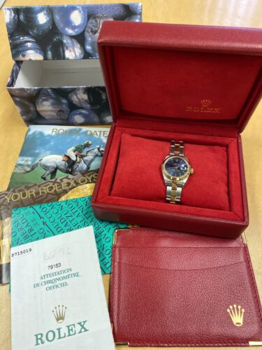 100% Authentic Rolex Perpetual Oyster Datejust Women's Ladies Watch Set Complete