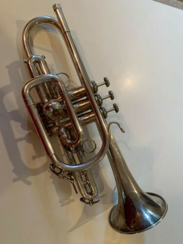 Vincent Bach Silver Stradivarius Cornet Trumpet Model 37   .460 bore