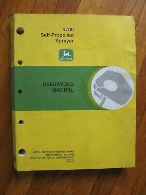 John Deere 4700 Sprayer Operators Manual