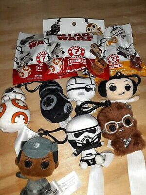 Funko Star Wars Last Jedi Mini Collectible Plushies Keychain lot of 10