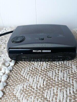 Philips Magnavox AJ3280 AM / FM Dual Alarm Clock Radio TESTED