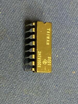 Qty-1 Sn74160j 74160 Ti 16-pin Cerdip Milspec Rare 1980 New Last One