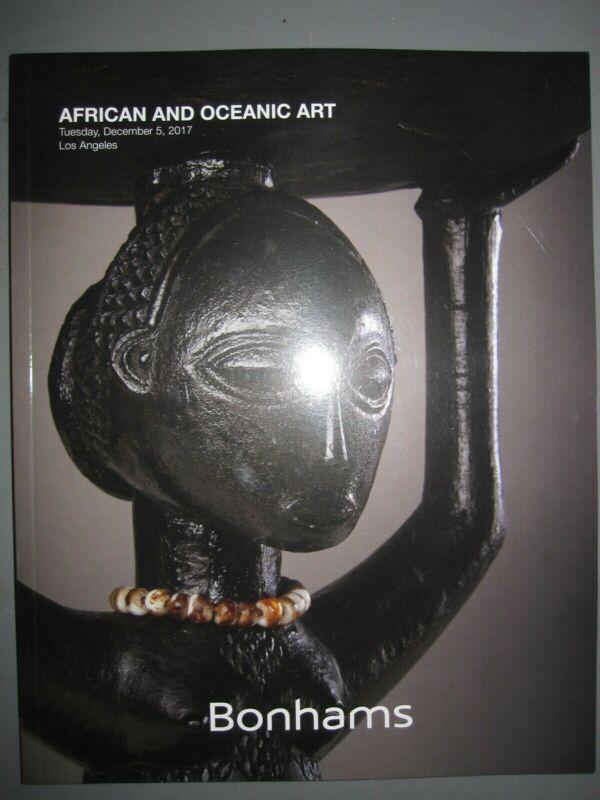 Bonhams 12/5/17 Tribal African & Oceanic Art figures masks weapons furniture